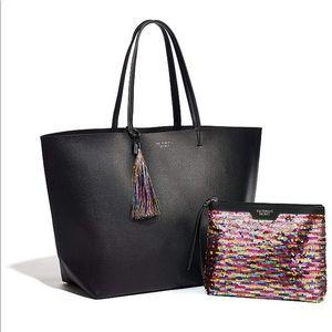 Victoria's Secret Tote &matching sequin makeup bag
